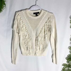 Forever 21 Knit Fringe Sweater